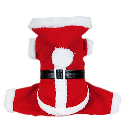 [Dogloveit Santa Christmas Costumes Pet Dog Cat Xmas Outfit for Pet Dogs, Large] (Dog Grinch Costumes)