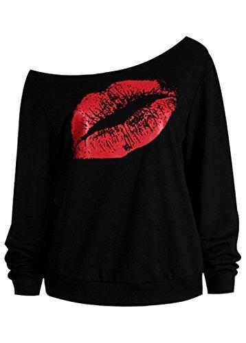 Wink Gal - Camicia - Maniche lunghe  -  donna nero/rosso L