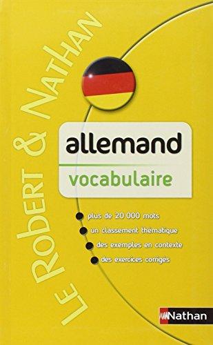 Allemand vocabulaire nathan scolaire le robert et nathan - Vocabulaire cuisine allemand ...