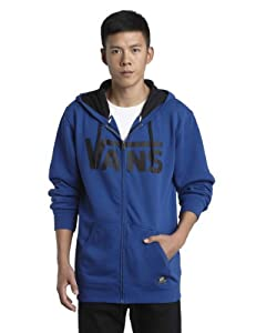 Vans Herren Fleece Classic Zip Hoodie, true blue/vintage white, L, VJ6K6OQ