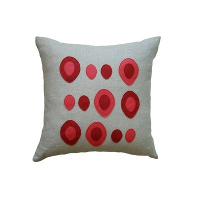 Eggs Applique Pillow Fabric / Color: Off-White Flannel Fabric in Denim/Egg
