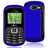 Importer520 Rubberized Snap-On Hard Skin Protector Case Cover for For (Verizon) LG Octane VN530 - Blue