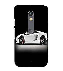 printtech Superfast Car Back Case Cover for Motoroal Moto X Play