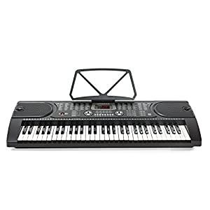 Hamzer 61 Key Electronic Piano Electric Organ Music Keyboard with Stand - Black by Hamzer