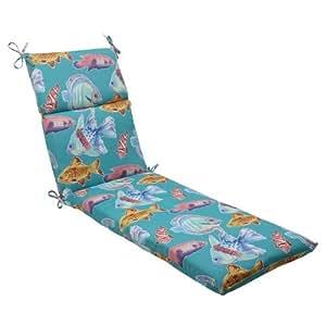 "Amazon 72 5"" Ocean Blue Outdoor Patio Chaise Lounge"