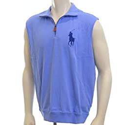 Polo Ralph Lauren Golf Men\'s 1/4 Quarter Zip Pullover Vest (Large)