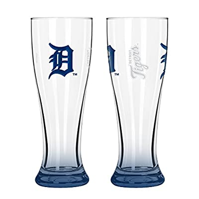 MLB Detroit Tigers Elite Pilsner Set (2-Pack), 16-Ounce