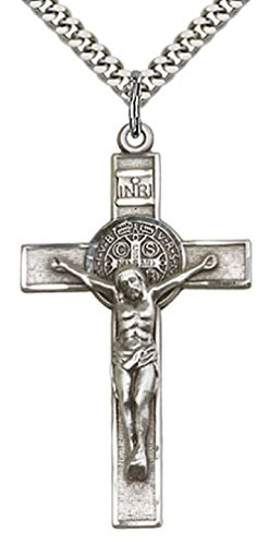 Heartland mens sterling silver st benedict crucifix pendant best mens sterling silver st benedict crucifix pendant aloadofball Choice Image