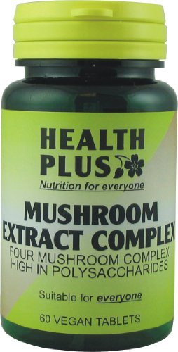 Health Plus Mushroom Extract Complex General Well-being Supplement - 60 Tablets