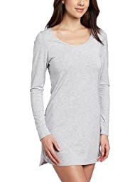 Splendid Intimates Women\'s Essential Long Sleeve Chemise, Heather Grey, X-Small