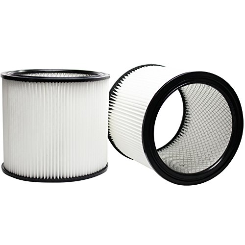 2-Pack Replacement 90304 Filter for Shop-Vac - Compatible with Shop-Vac 90304, Shop-Vac LB650C, Shop-Vac QPL650, Shop-Vac 965-06-00, Shop-Vac CH87-650C, Shop-Vac SL14-300A, Shop-Vac 925-29-10, Shop-Vac 963-12-00, Shop-Vac 596-07-00, Shop-Vac 586-74-00, Shop-Vac 586-75-00, Shop-Vac 586-76-00 (Shopvac Filter 90304 compare prices)