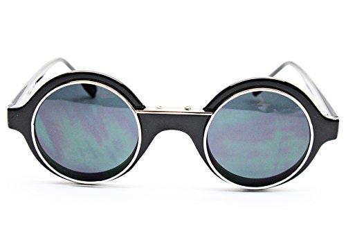 W83-vp Style Vault 80s Flip up or Regular 80s Sunglasses (S1112V Mt.Black/gold-green, UV400)