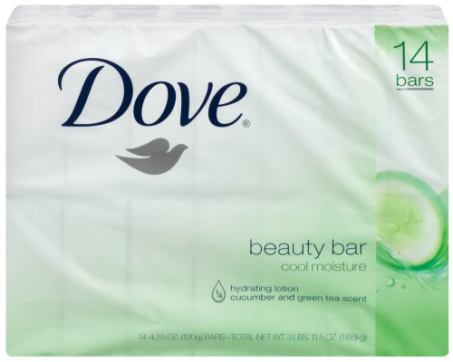 Dove go fresh Cool Moisture Beauty Bar, 14 Count