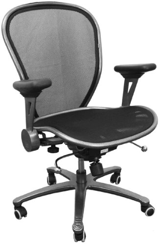 Mesh and Ventilated Office Chair - Mid Back Contemporary Mesh Chair - CP-B078-2-MTLK-GG
