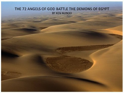 The 72 Angels Of God Battle The Demons Of Egypt
