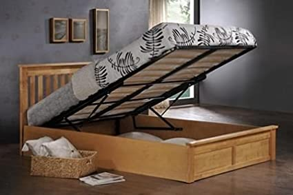 "Monaco Ottoman Bed Frame Size: Double (4' 6"")"