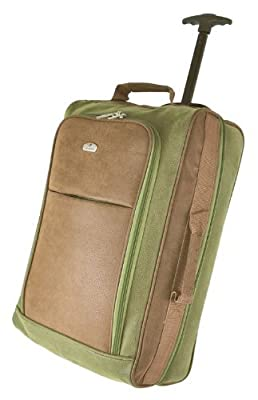 Expandable Cities Lightweight Hand Luggage Travel Holdall Baggage Wheely Suitcase Cabin Approved Bag Ryanair Easyjet And Many More - 1.6k - 40 Litres - PADLOCK INCLUDED -