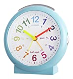 Acctim 15219 Lulu 2 Blue Time Teaching Bold Sweeping Seconds Quartz Alarm Clock