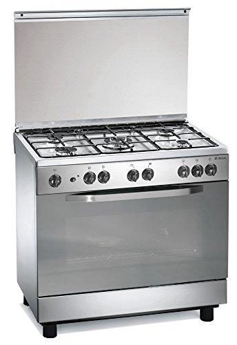 Cuisinire-gaz-inoxydable-90x60x85-cm-avec-5-feux-et-four-a-gas-Regal-RC965GX