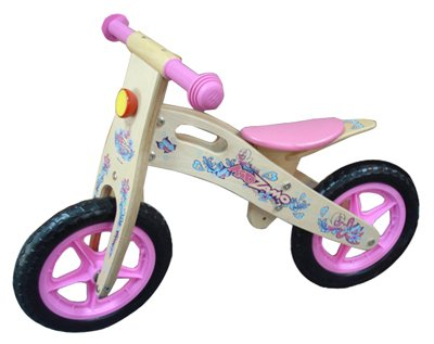 Bike Kidzamo Moto Wooden 12 Push Girls Pink