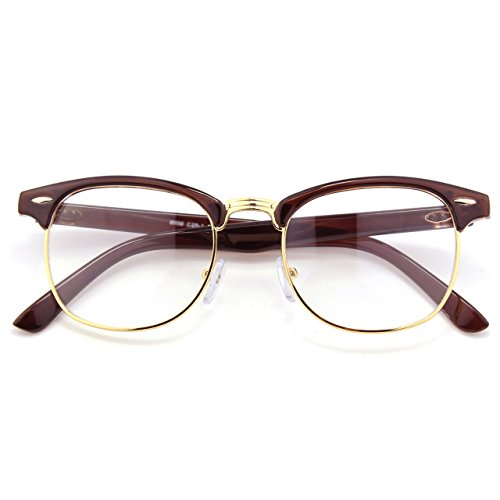 cgid 50er jahre retro nerd brille halbrahmen hornbrille. Black Bedroom Furniture Sets. Home Design Ideas