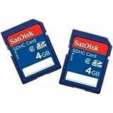 SanDisk SDSDB2-004G-B35 4GB Class 4 SDHC Memory Card 2 Pack