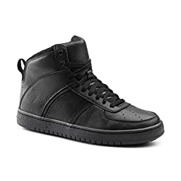 Keuka SureGrip Mens Carson Black Athletic Slip Resistant Work Shoes 10.5M