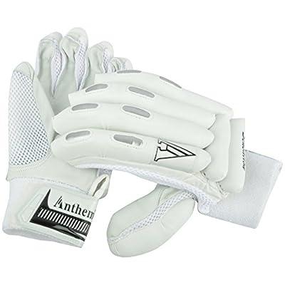 Anthem Sensation Cricket Batting Gloves (Full Size, White)
