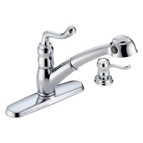 Delta Saxony 473-SS Kitchen Pull Out Spray Faucets Stainless