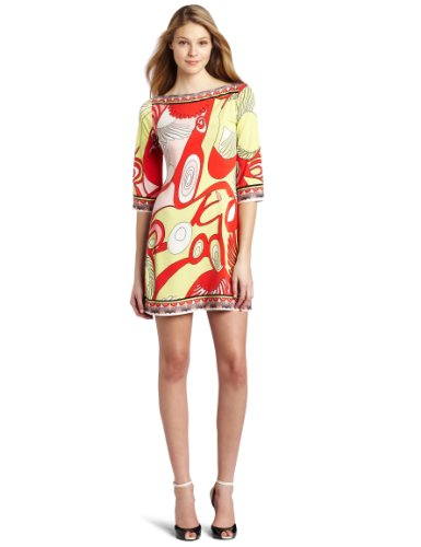 Julie Dillon Women's 3/4 Sleeve Lobster Jersey Shift Dress