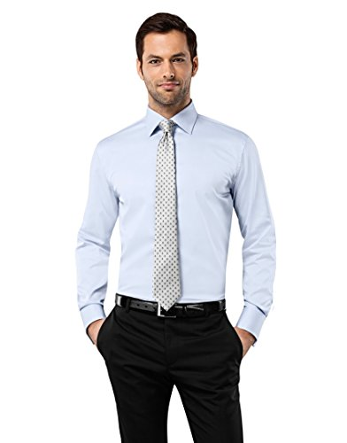 Vincenzo-Boretti-Mens-Shirt-Slim-Fit-Double-Cuff-Uni-Non-Iron