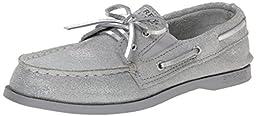 Sperry Top-Sider Authentic Original Slip On Boat Shoe (Toddler/Little Kid/Big Kid), Silver Spark, 2.5 M US Little Kid