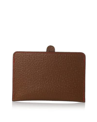 Leone Braconi Men's Credit Card with Lip, Cognac, One Size As You See