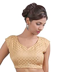 Abida Golden Colour Party wear designer blouse