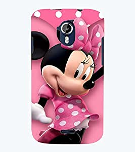 Printvisa Polka Dot Pink Mickey Mouse Back Case Cover for Micromax Canvas Magnus A117