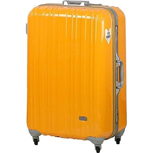 TSAロック スーツケース SPALDING モデル0614 ≪オレンジ≫ 大型 Lサイズ 73cm 5.9kg 103リットル 8泊以上 スポルディング ポリカーボネイト100% ハード キャリー