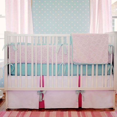 Pinwheel Punch 3 Piece Crib Bedding Set