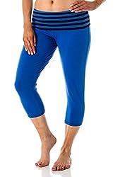Women's Printed folded waistband yoga capri