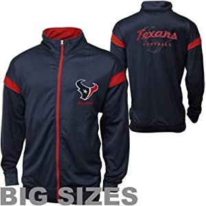 Houston Texans Big Sizes Storm Full Zip Track Jacket - Navy Blue by Leather Sports Direct