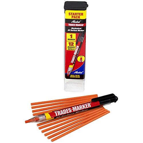Markal 96137 Trades Marker (1 Holder, 12 Refills), Orange (Orange Grease Pen compare prices)