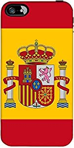 Snoogg spain Flag 2980 Hard Back Case Cover Shield ForForApple Iphone 5C / Iphone 5c