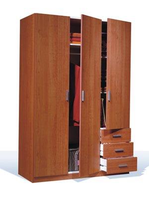 Mobimarket - Armario 3 puertas 3 cajones 121 x 180