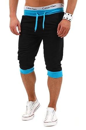 MT Styles - P-10 - Bermuda contrasté - noir/turquoise - Noir - S