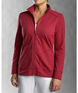 Wisconsin Badgers Ladies Cutter and Buck Ravenna Raw Edge Full Zip Jacket by Cutter & Buck