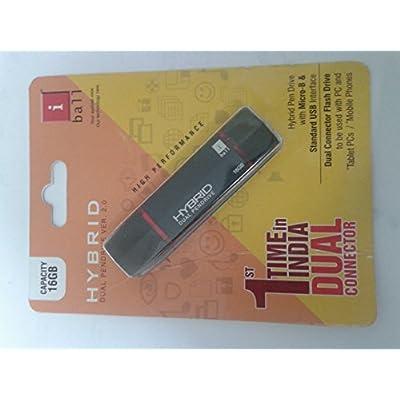 iBall Hybrid Dual 16GB Pendrive Wth Micro-B & Standard USB Interface