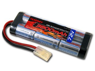 7.2V Tenergy 3800mAh Flat NiMH High Power (38A