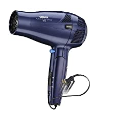 Conair 1875 Watt Ionic Conditioning Cord Keeper Folding Handle Hair Dryer