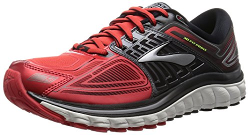 Brooks Glycerin 13 M, Scarpe da Corsa Uomo, Multicolore (High Risk Red/Black/Nightlife), 43 EU
