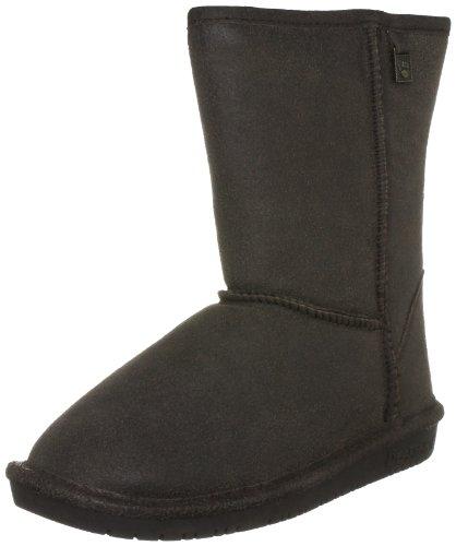 Bearpaw Women's Emma Short Vintage Chocolate Fur Trimmed Boot 1210W 7 UK