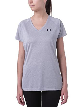 Under Armour Women's UA TechTM Short Sleeve V-Neck Extra Small True Gray Heather
